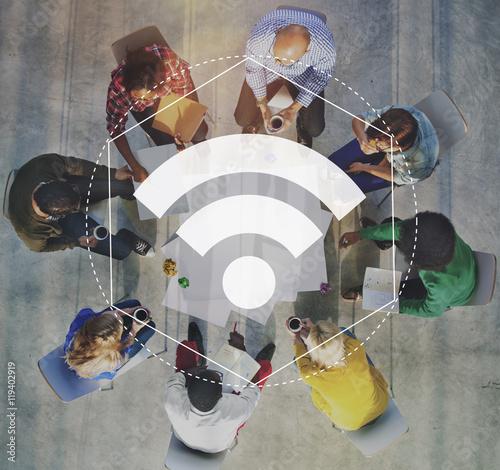 Fotografia  Internet WiFi Network Connection Graphic Concept