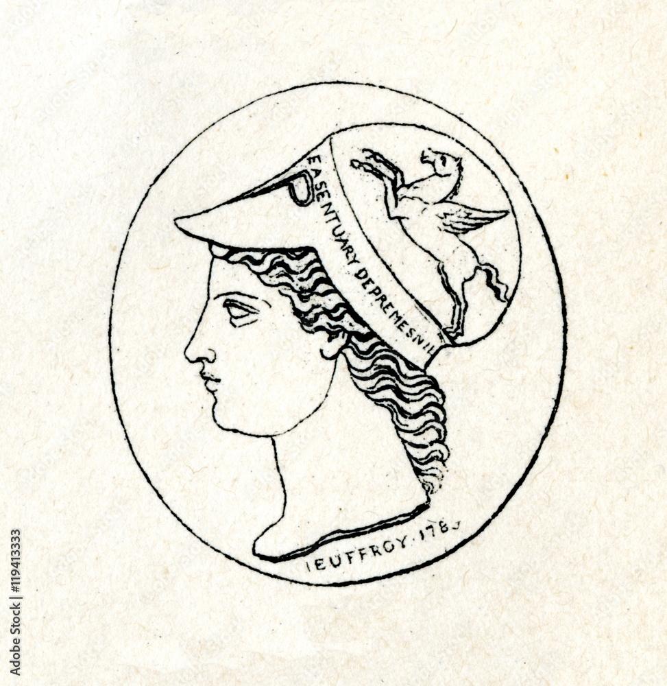 Minerva - geschnitzt Juwel von Roman-Vincent Jeuffroy (aus Meyers ...