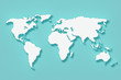 World Map. 3d Rendering