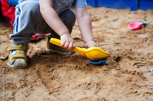 children's toys in the sandbox Wallpaper Mural