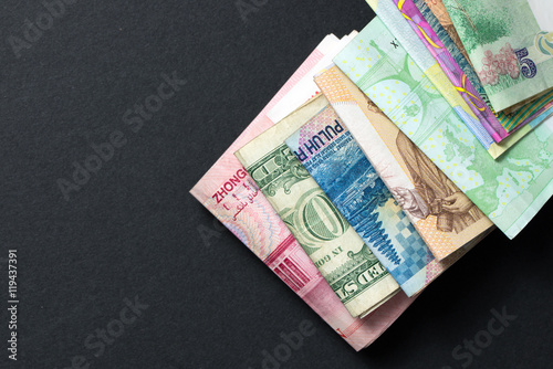 Photo Foreign currency banknotes