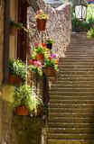Fototapeta Fototapety na drzwi - Narrow street in Volterra