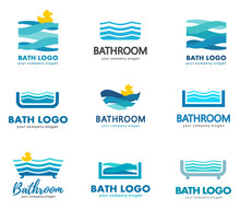 A Collection Of Logos For Water, Bathroom And Plumbing. Water Association.