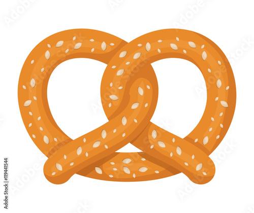 Fotografía delicious pretzel isolated icon vector illustration design