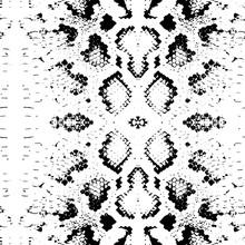 Seamless Pattern Snake Skin Texture. Black On White Background. Vector