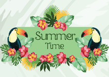 Exotic Tropical Summer Card Wi...