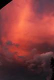 Fototapeta Na sufit - Czerwone niebo tuż po zachodzie słońca