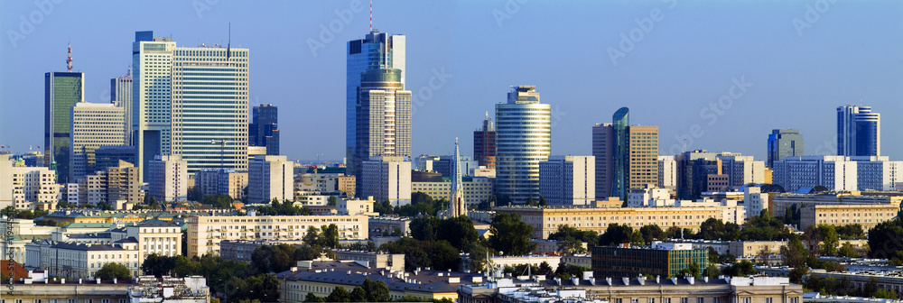 Fototapety, obrazy: Panorama nowoczesnej Warszawy