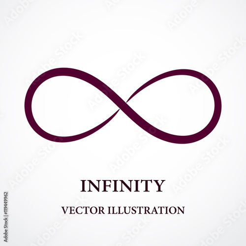 Fotografia Abstract infinity symbol. Vector design. Creative concept.