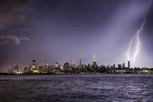 Lightning Hitting A New York C...