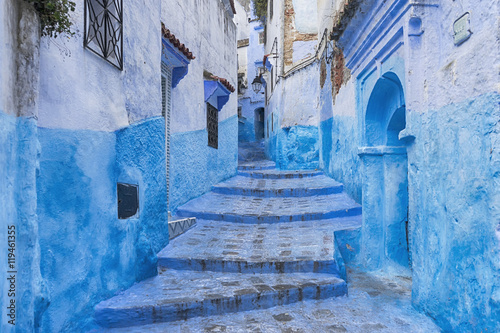 Deurstickers Marokko ciudades del mundo, Chefchaouen en Marruecos