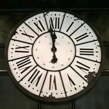 Vintage Parisian Clock - Minutes To Midnight. The Clock Has A Vintage Parisian Look.