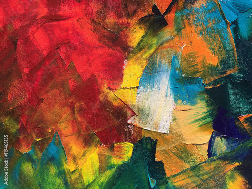 Abstract oil painting background. Palette knife paint texture. Hand painted modern art concept.