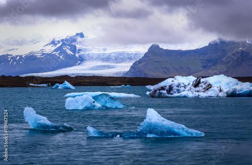 Poster Glaciers Glacial Lagoon, Iceland