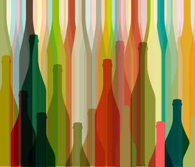 Panel Szklany Wino Background Bottle vector