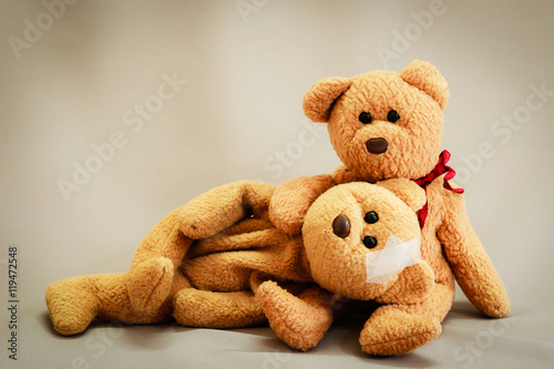 Fotografie, Obraz  teddy bear couples love.