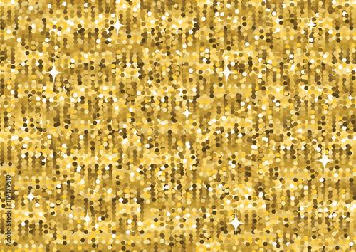 Stoffe zum Nähen Goldglitter Luxus Textur. Nahtlose Muster. Design-element
