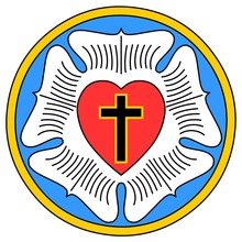 Lutheran Rose Emblem (Luther Seal), Colored Version