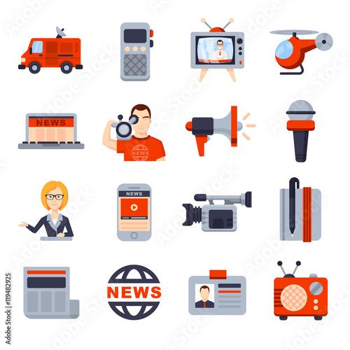 Illustrations of Flat icon set #119482925