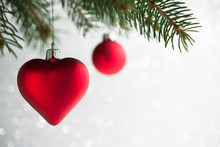 Red Christmas Ornaments (heart...