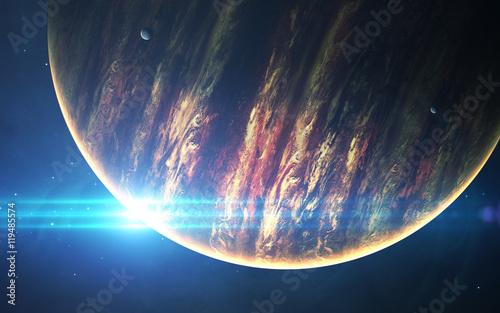 Zdjęcie XXL Jowisz - obrazy 3D o wysokiej rozdzielczości przedstawiają planety Układu Słonecznego. Ten obraz elementy dostarczone przez NASA.