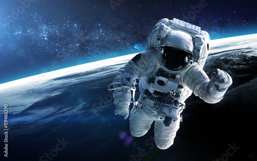 Spoed Foto op Canvas Heelal Jupiter colonisation. Elements of this image furnished by NASA