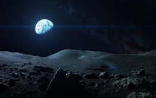 View Of Earth From Moon. Eleme...