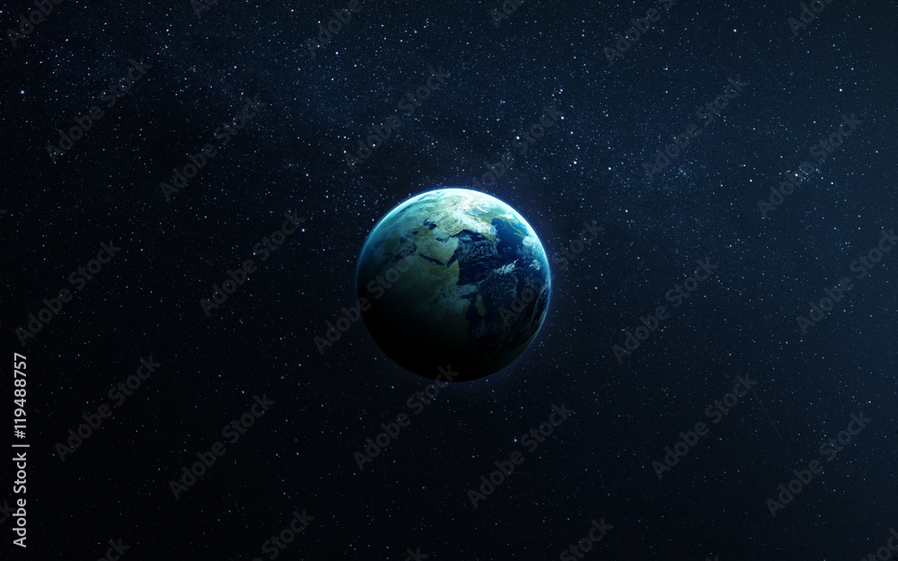 Fototapety, obrazy: The Earth from space showing all they beauty. Extremely detailed image, including elements furnished by NASA. Other orientations and planets available.