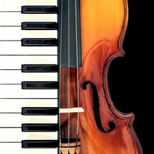 Piano & Classical Violin, Isol...