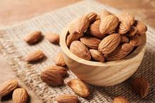 Almond Snack Fruit In Wooden B...
