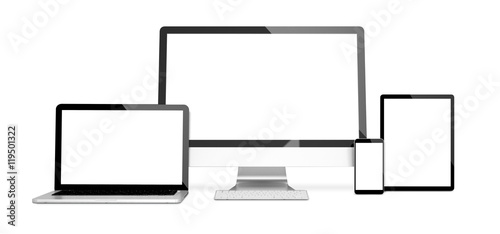 devices isolated mockup blank screen