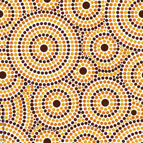 Australian tribes dot pattern vector seamless Wallpaper Mural