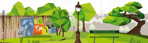 Papiers peints Vert chaux A24 - 11110X3100 ech 1-10