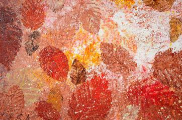 Fototapeta Hintergrund Acrylmalerei Herbst Winter Blatt Struktur
