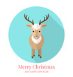 Vector illustration of cute deer.