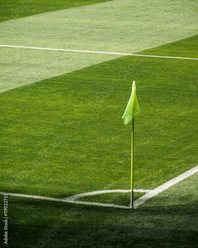 Fotografía Corner flag on a football (soccer) pitch.