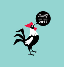 2017 New Year Card, Year Of Th...