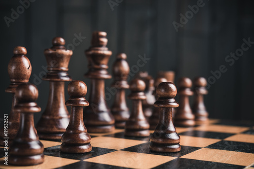 wooden chess pieces Poster