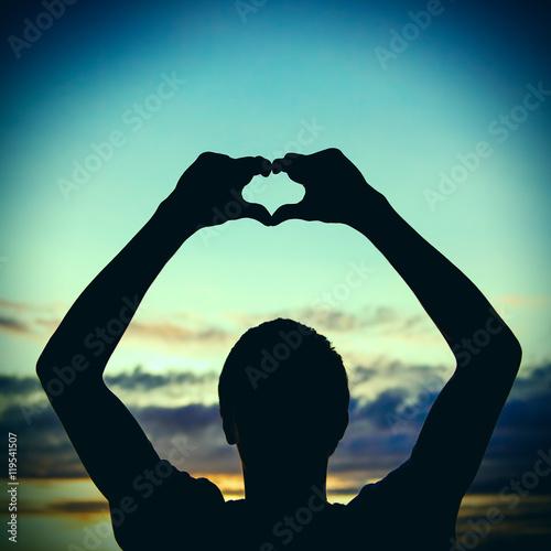Fotografering  Silhouette of Heart Shape