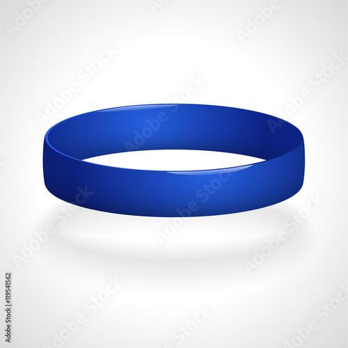 Fotografía  Promo bracelet. Silicone bracelet for hand. Vector illustration.