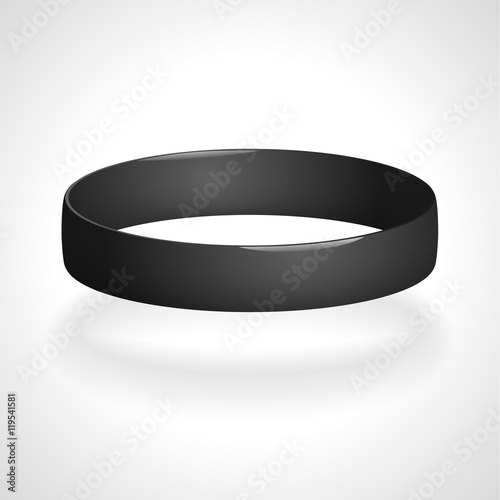 Fotografía Promo bracelet. Silicone bracelet for hand. Vector illustration.