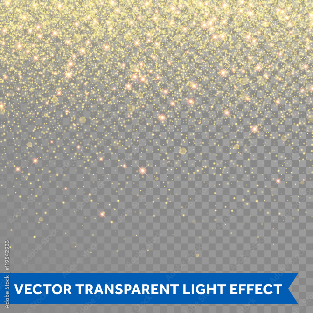 Fototapety, obrazy: Vector gold glitter particles background effect