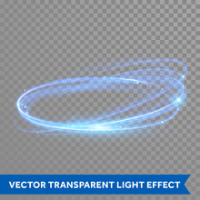 Vector Neon Light Circle In Motion