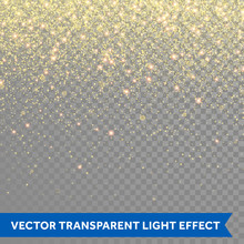 Vector Gold Glitter Particles Background Effect