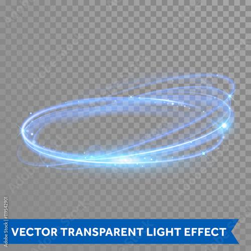 Obraz Vector neon light circle in motion - fototapety do salonu