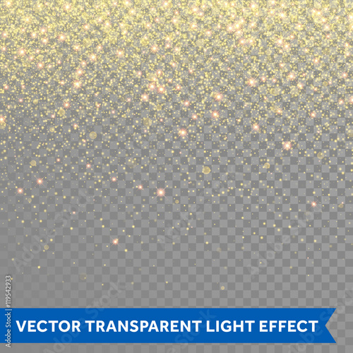 Fotografie, Obraz  Vector gold glitter particles background effect