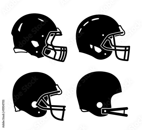 Football helmet sports icon symbols Tapéta, Fotótapéta