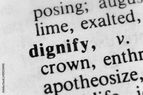 Fotografie, Obraz  Dignify
