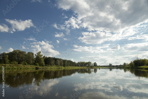 Printed kitchen splashbacks River river with blue sky
