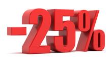 25 Percent Discount 3d Text